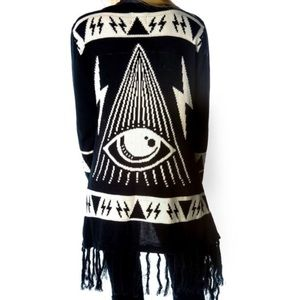 UNIF Psychic Poncho Sweater Cardigan